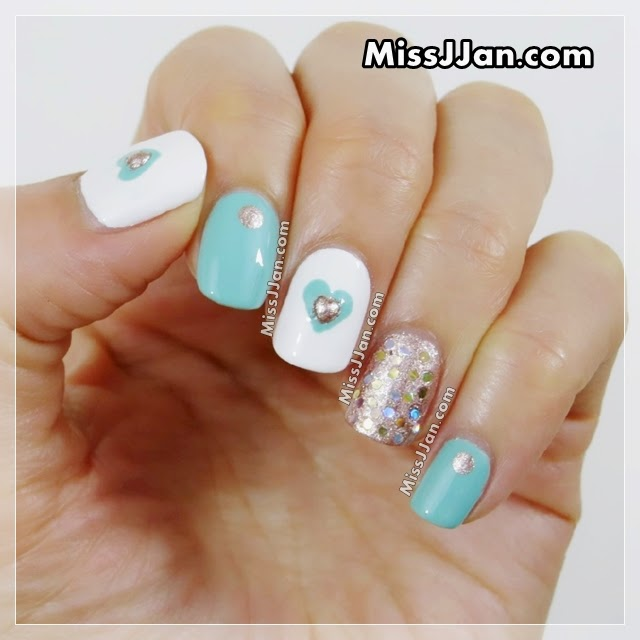 MissJJan\'s Beauty Blog ♥: EASY ❥ Valentine\'s Day Mint & Rose Gold ...