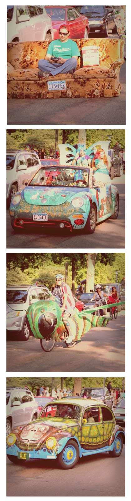art car parade around Lake Harriet