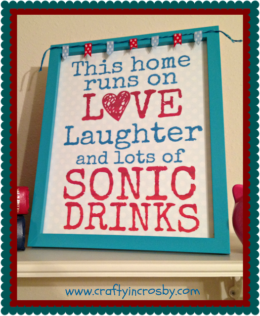 crafty in crosby  sonic drink sign