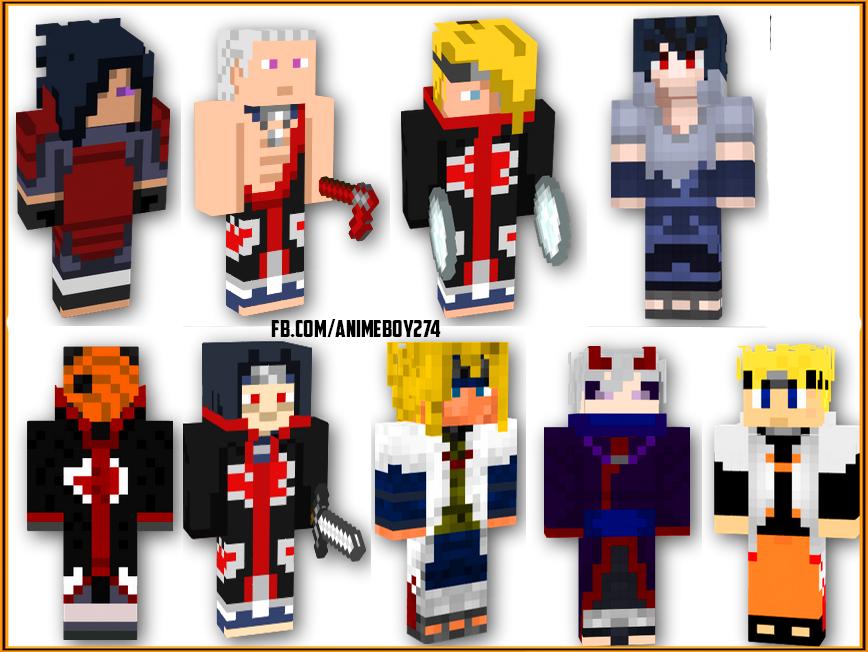 Naruto Shippuden Minecraft Skins Animeboy - Skins para minecraft pe de naruto