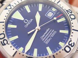 OMEGA SEAMASTER PROFESSIONAL CHRONOMETER 300m BLUE WAVE DIAL - TITANIUM CASE BRACELET - AUTOMATIC