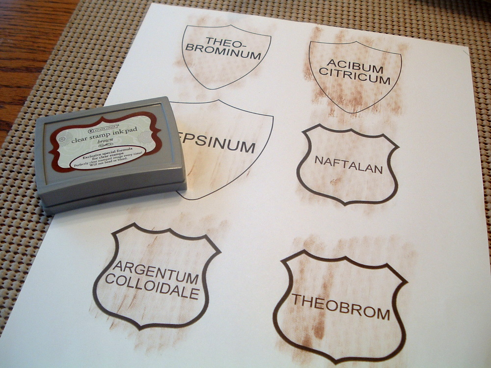 labels for apothecary jars