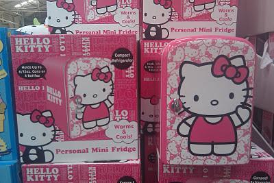 The Good Life: Hello Kitty Mini Fridge (Morena Blvd Costco)