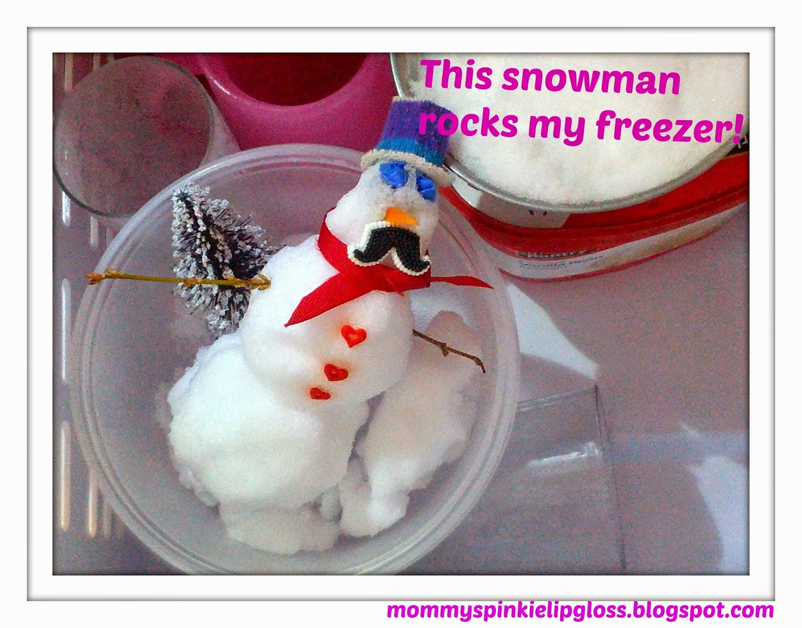 snowman in my freezer from MommysPinkieLipgloss.blogspot.com