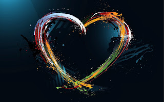 Diseño abstracto amor