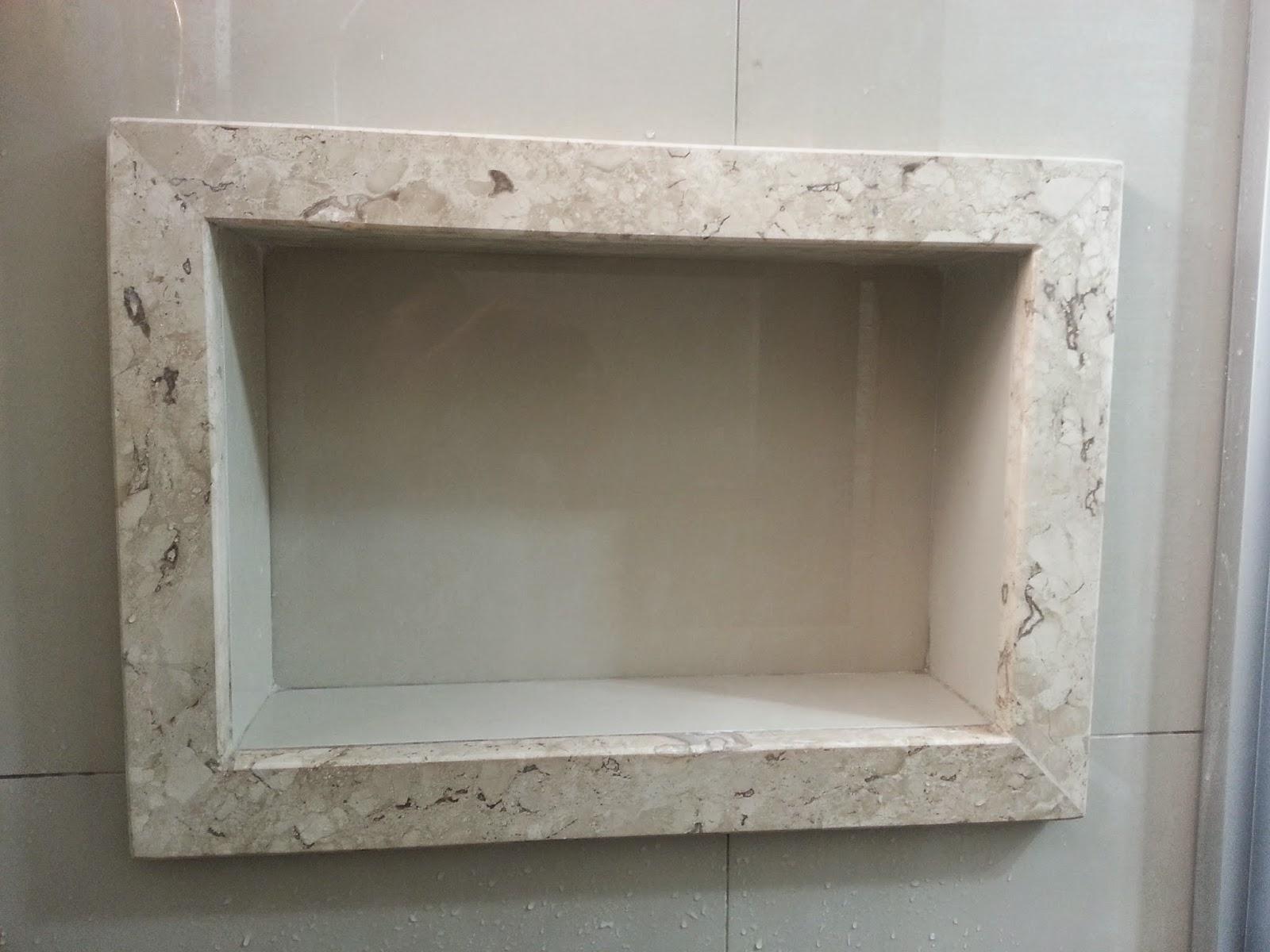 detalhes do NICHO do banheiro  Meu novo Lar -> Nicho Banheiro Porcelanato