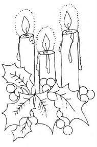 Riscos para pintura de velas natalinas