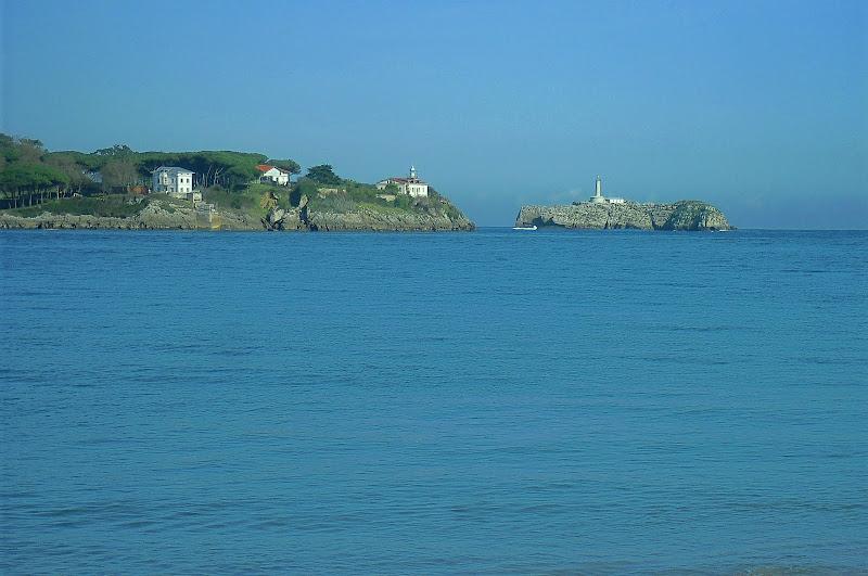faros de la Punta de la Cerda y de la Isla de Mouro