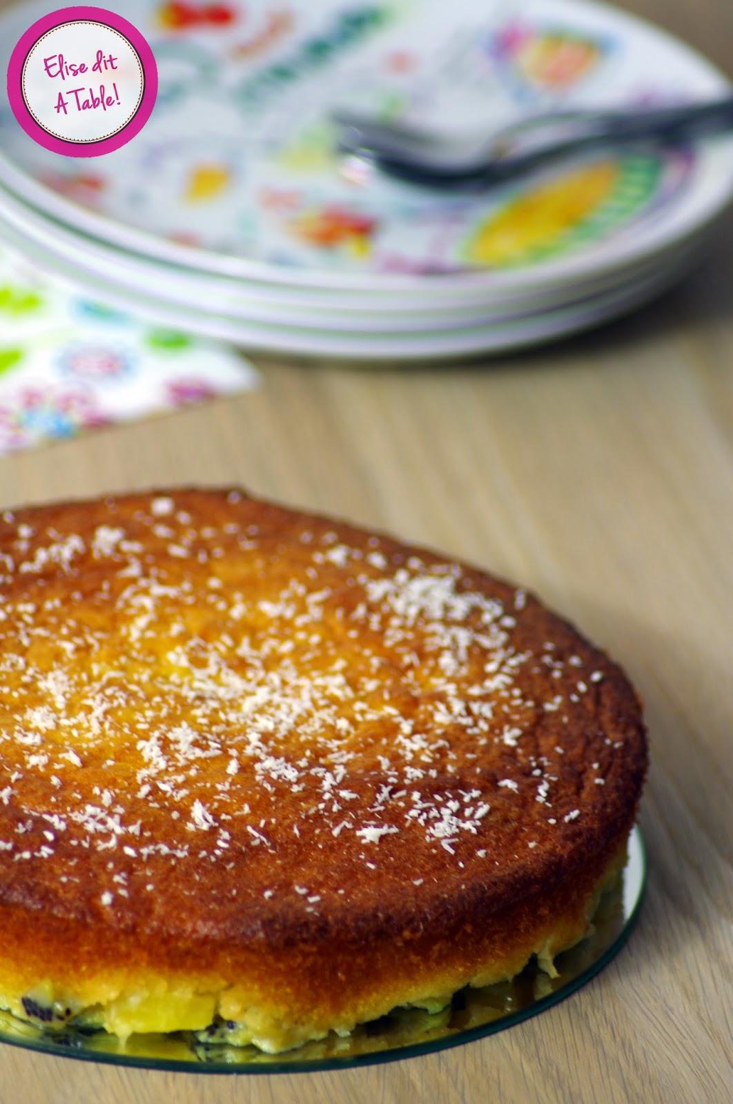 recette Gâteau kiwi ananas