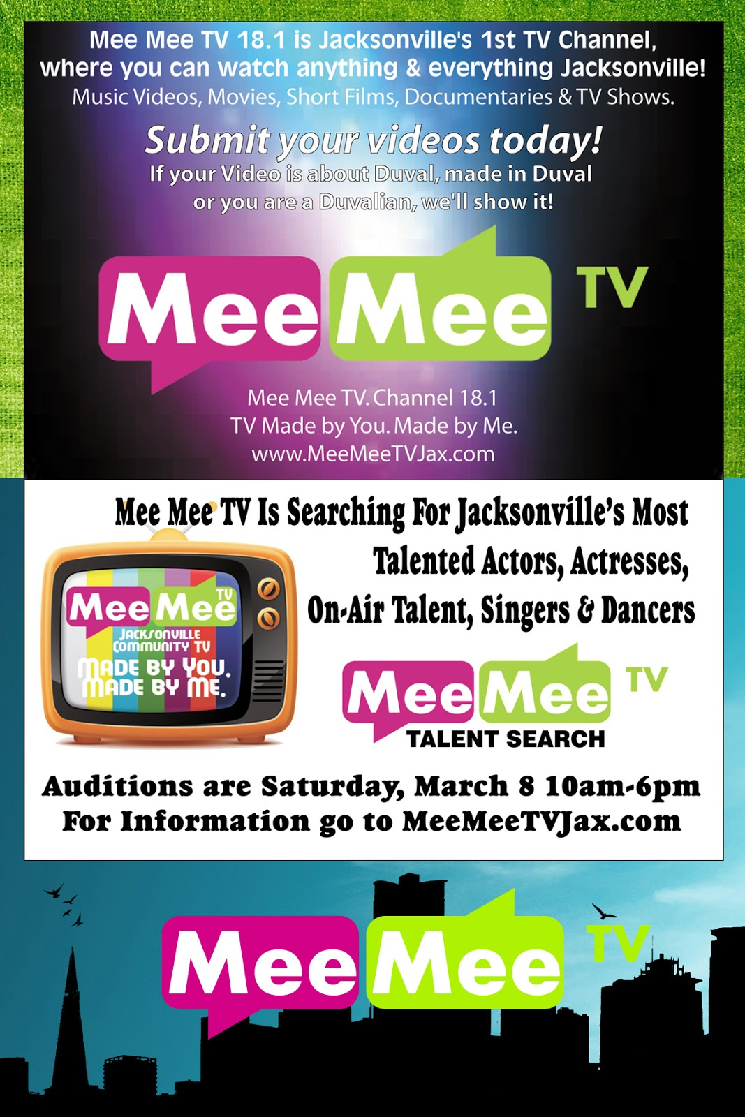Mee mee tv s the audition casting call march 8th