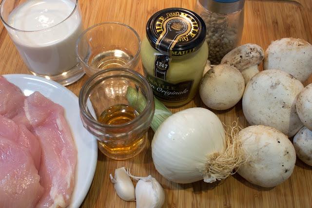 ingredientes Pechuga de pollo strogonoff