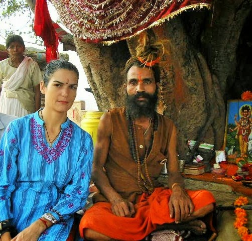 Erin Reese and Sadhu, Ayodhya, India
