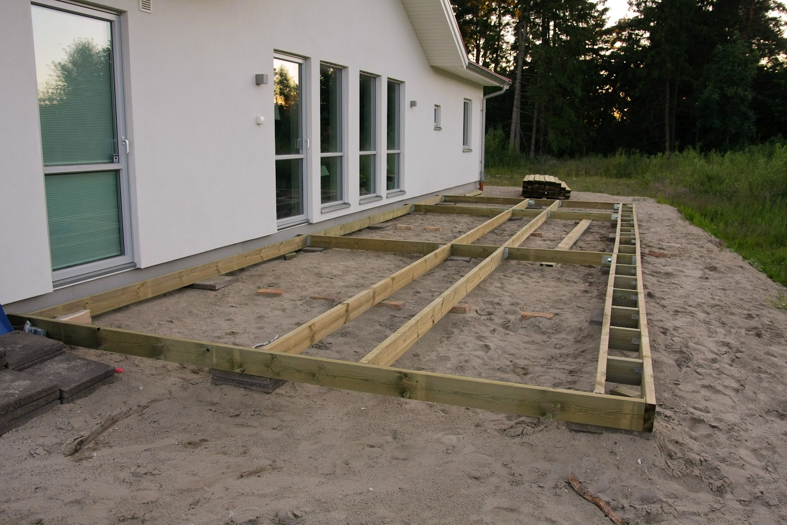 Inredning reglar byggmax : Villa Åsidan: Trädäck Del 1
