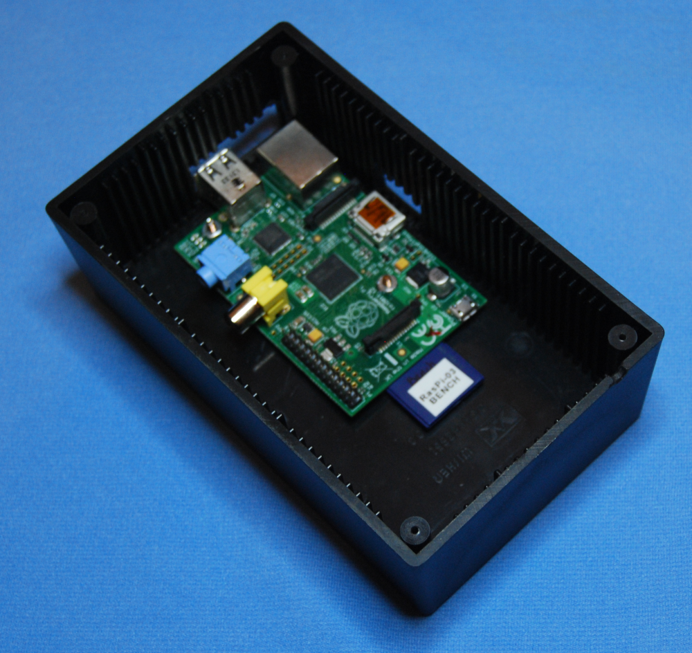 The Raspberry Pi Hobbyist Wiringpi I2c Fd Here Is Project Box With Mounted Inside There Are Holes Cut For Usb Network And Hdmi Connections I Like This Arrangement A Lot Will