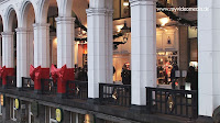Hamburg Alster Arcades decorated for Christmas