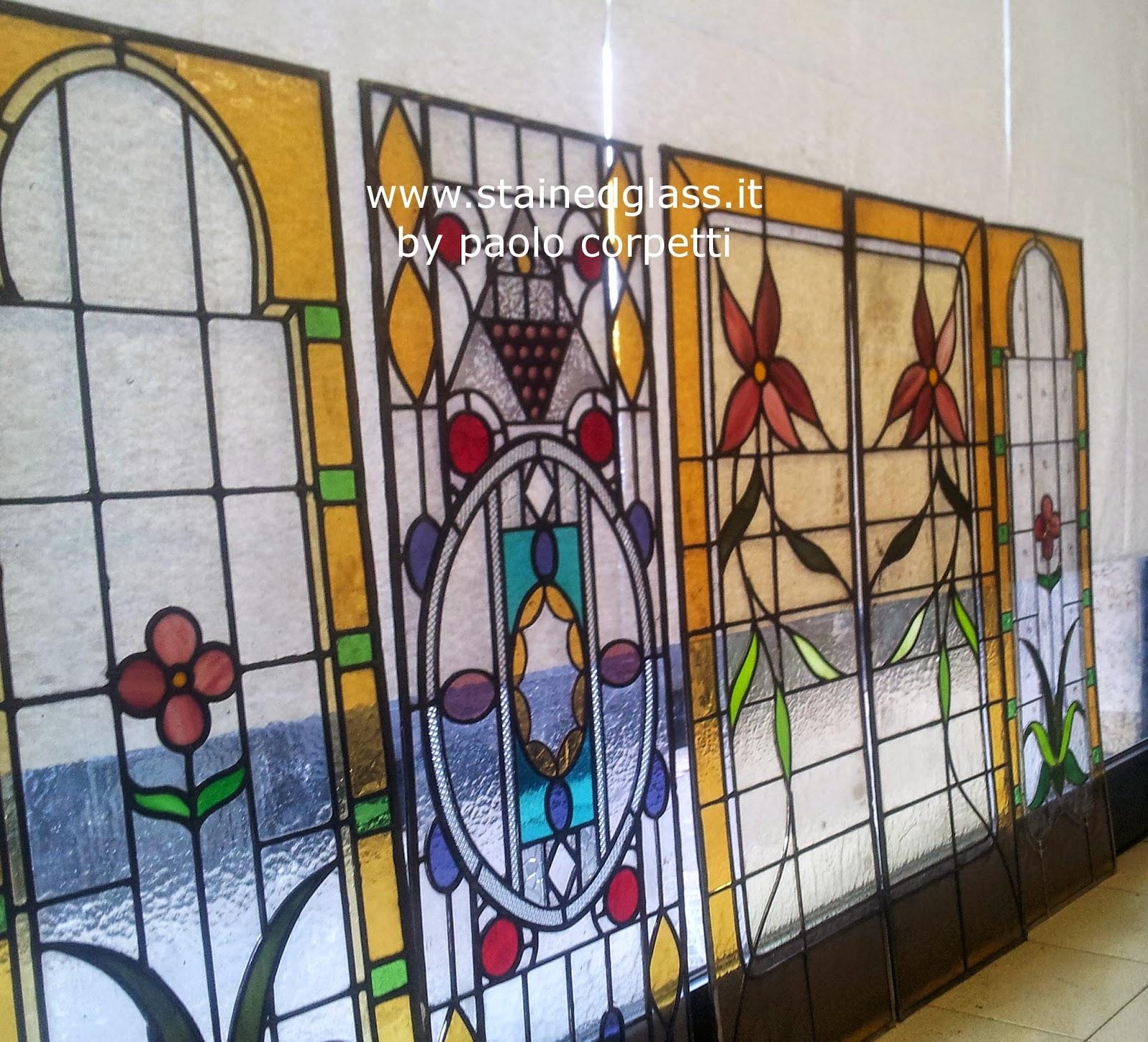 vetrate per arredamento di interni