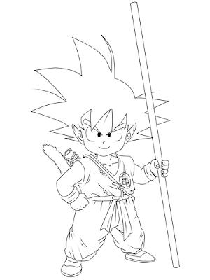 cara menggambar Goku kecil tahap 19