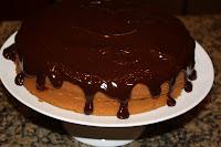Jam Filled Cake Chocolate Glaze | Healthy Bake Jam Chocolate Cake Glaze Recipe