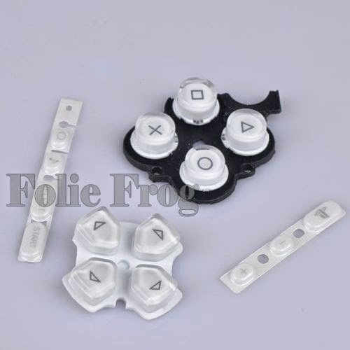 White Button Keypad Replacement Button Repair Parts Set For PSP 3000