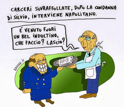 Vignetta Berlusconi e Napolitano