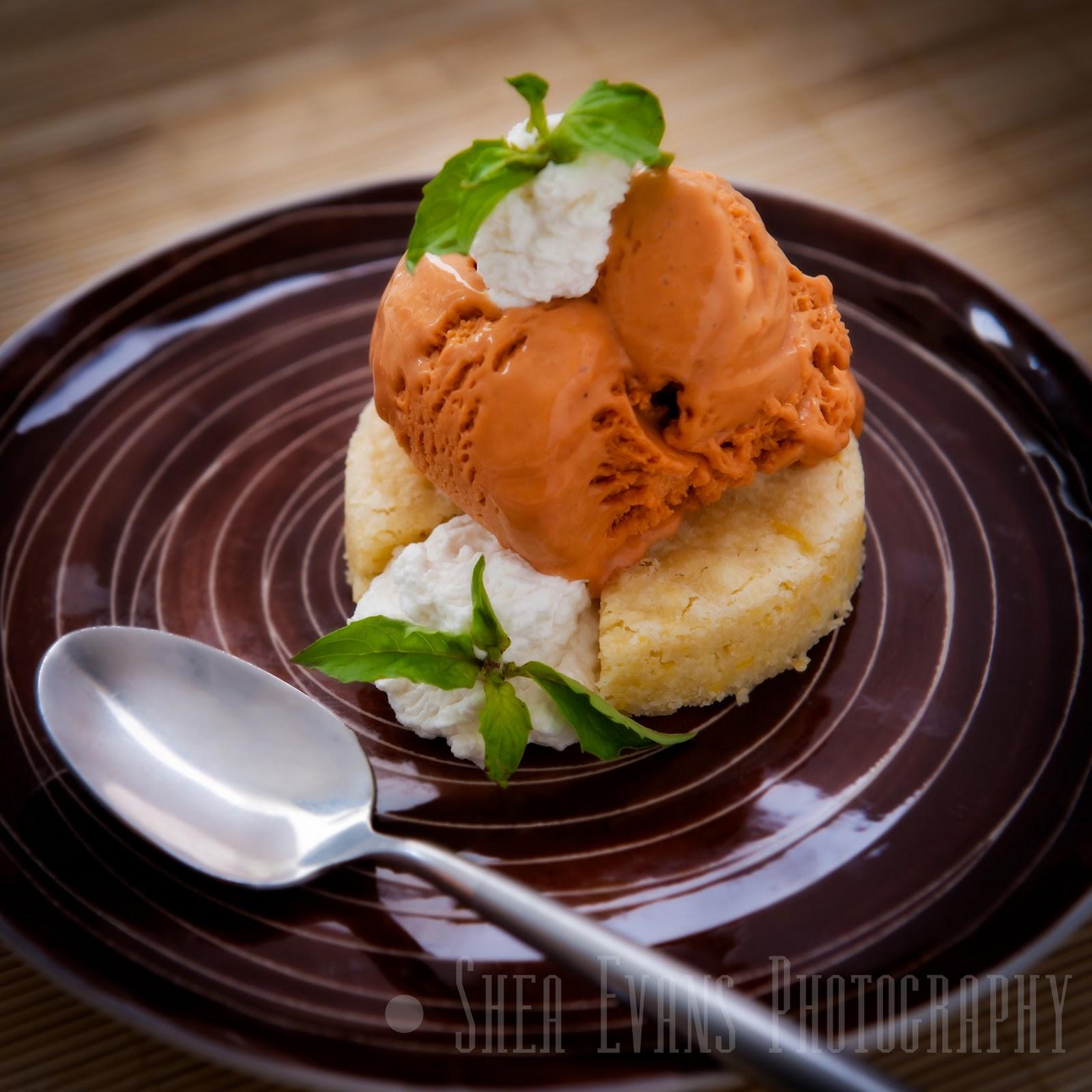 Thai Iced Tea Ice Cream with Lemon Blondies and Basil Whipped Cream ...