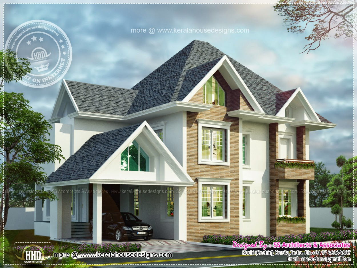 House design european - European Model House In Kerala