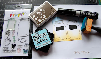 SRM Stickers Blog - Guest Designer - Virginia Lu - #guestdesigner #virginialu #card #tags #janesdoodles #clearstamps #doilies #chalkboard #markers #kraftpillowboxes #twine
