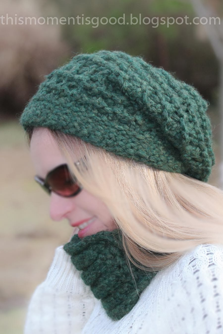 Loom Knitting by This Moment is Good!: LOOM KNIT LACE & RIDGE SLOUCH HAT ...
