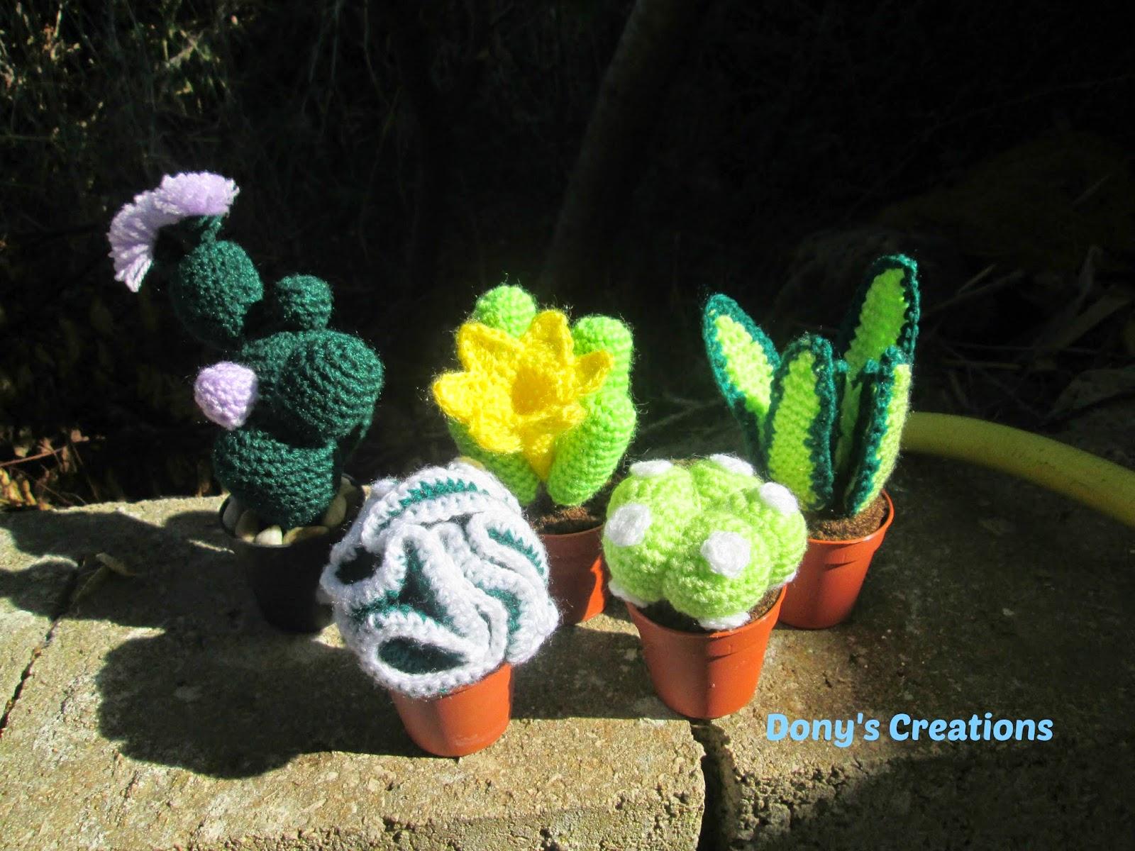 Dony 39 s creations handmade le mie mini piantine grasse for Piante grasse uncinetto