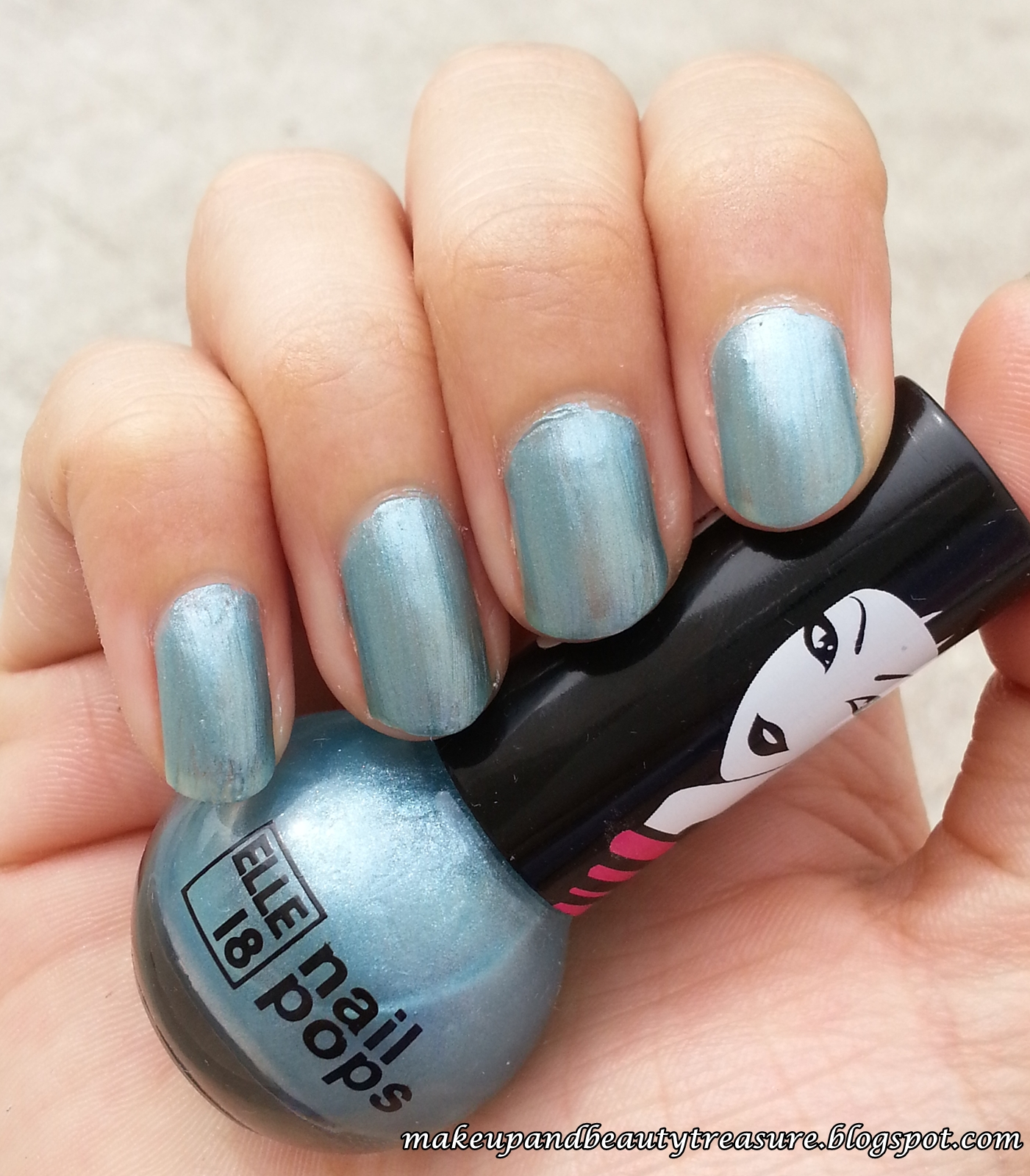 Makeup and Beauty Treasure: Elle 18 Nail Pops Shade \'15\' Review & NOTD