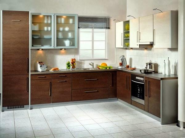 desain rumah dapur bentuk l terbaru