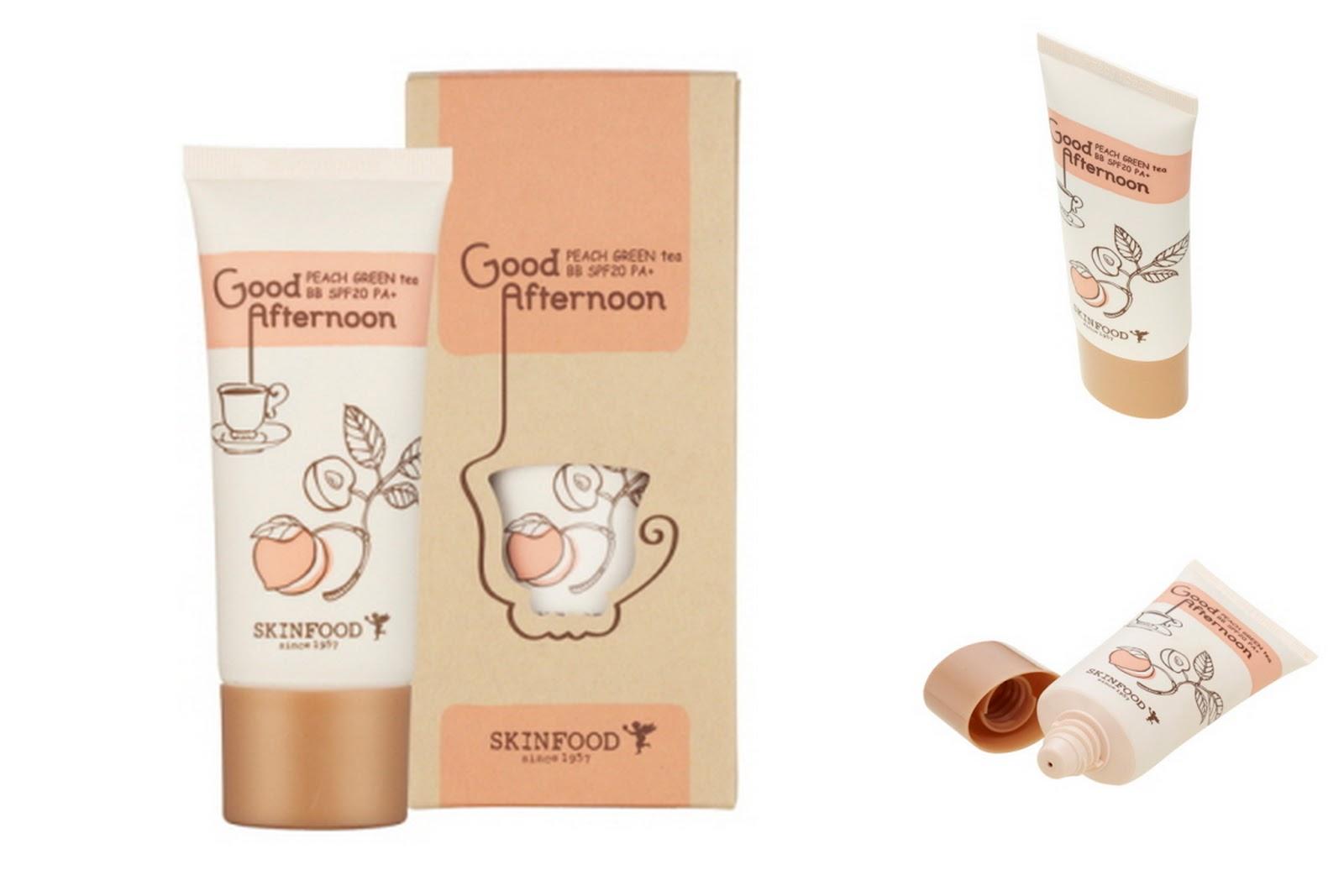 Биби-крем для жирной кожи skinfood peach green tea bb cream / хару-хару!.