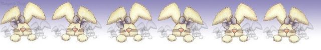 barra de coelhinhos de páscoa