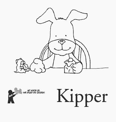 Desenhos para colorir de kipper, o cão.