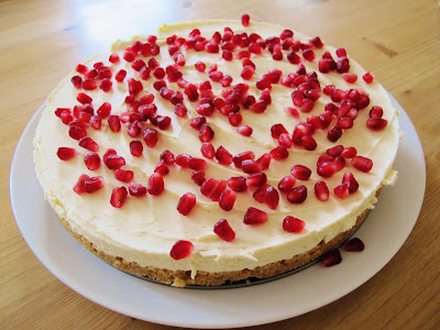 pomegranate cheescake