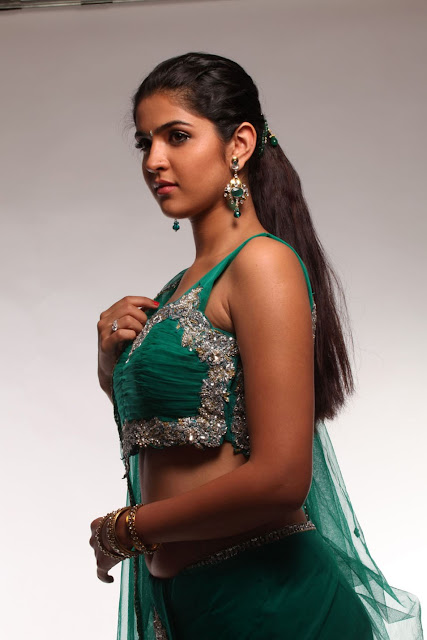 deeksha seth green saree photos