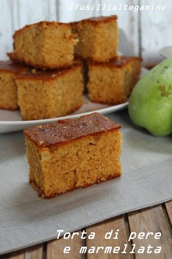 torta di pere e marmellata