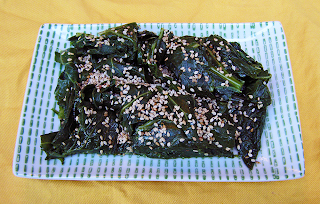 Asian Style Collards on Japanese Plate