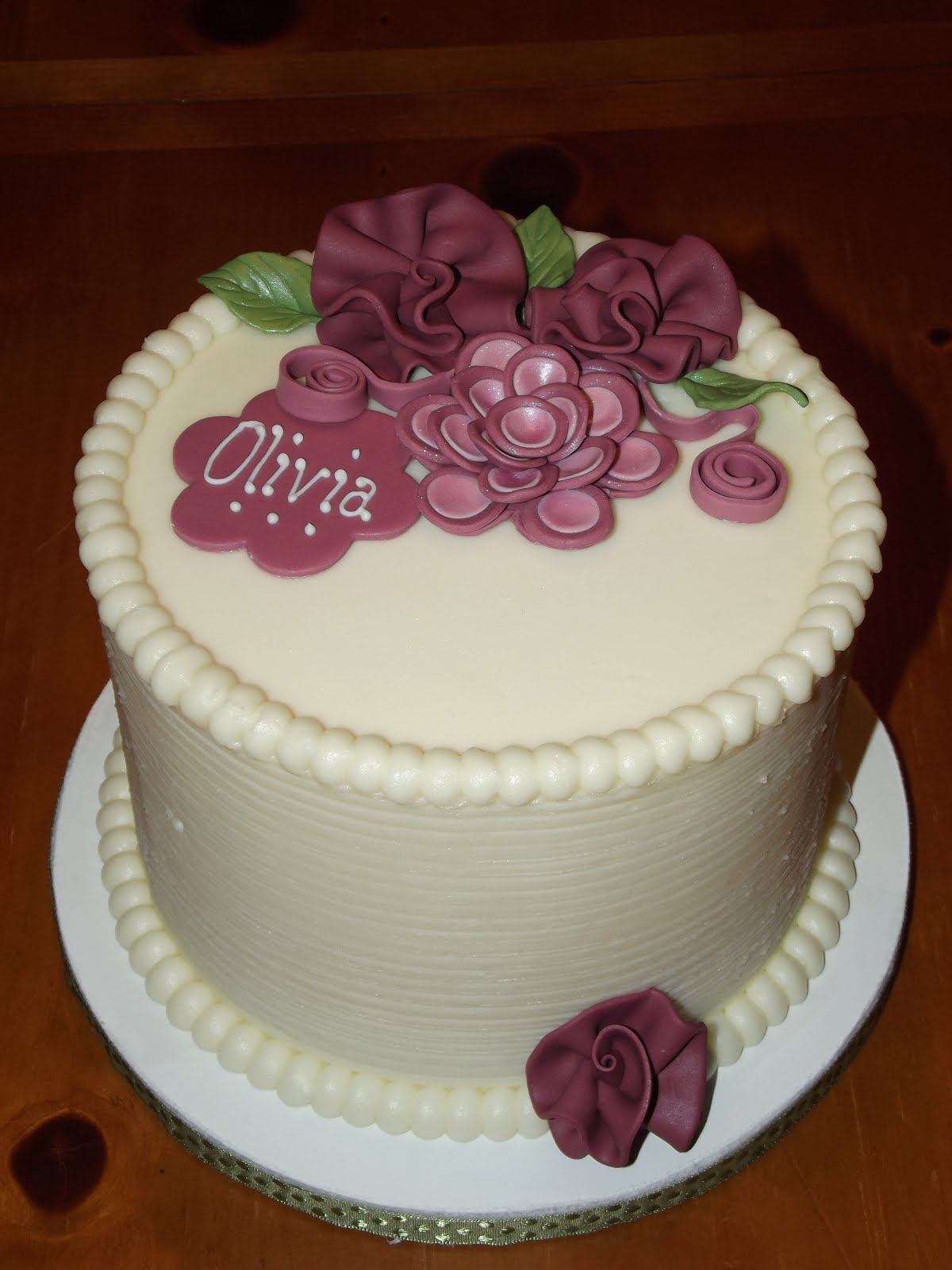 Suzy s Sweet Shoppe: Simple but Pretty Birthday Cake