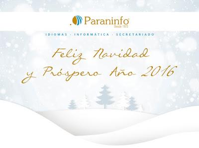 FELIZ AÑO NUEVO 2016. ACADEMIA PARANINFO.