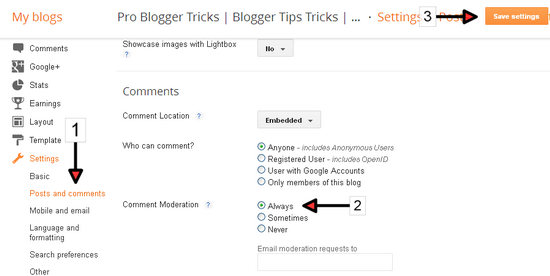 How to Stop Spam Comments on Blogger ?