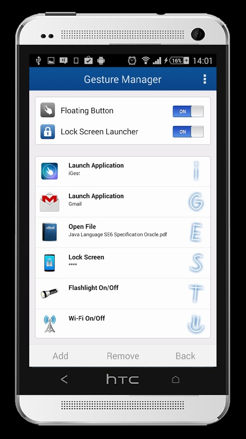 Download iGest - Gesture Launcher Premium v1.0.5 Apk For Android