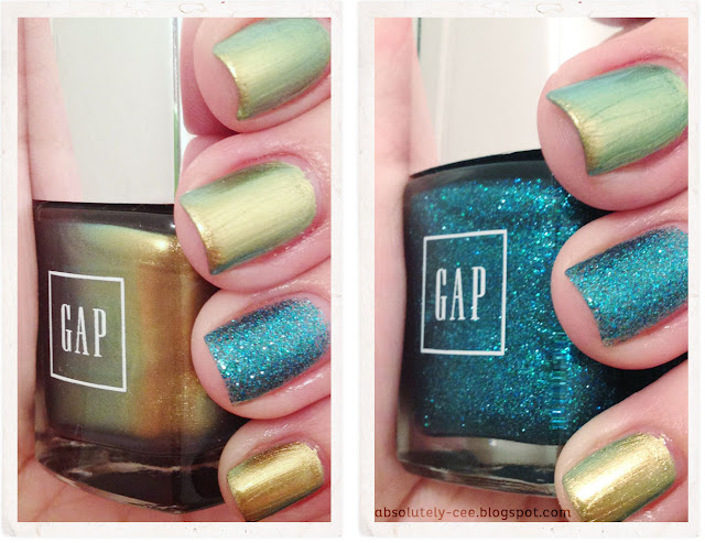 GAP Mermaid  and Gold Rush Nail Polish