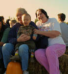 Grandma Sue, Brogan and Nana Rose on wagon ride at Suavie Island