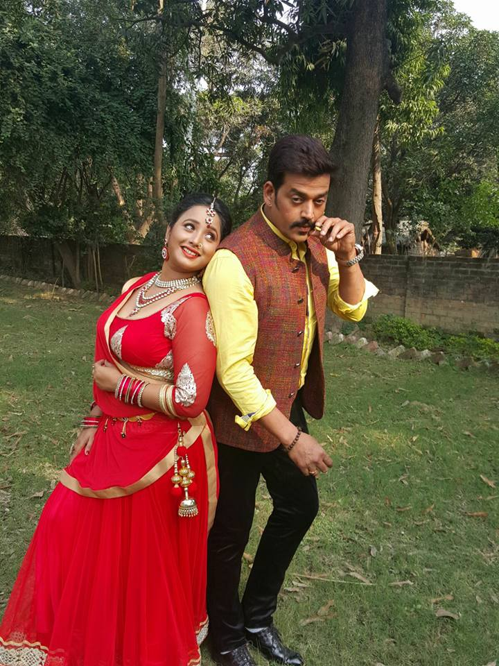 Ravi Kishan, Rani Chatterjee Shooting stills of Bhojpuri Movie Hum Hai Jodi No 1