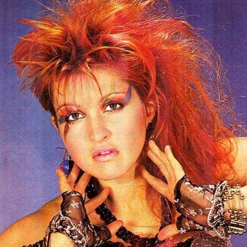 Historia maquillaje años 80 Cindy Lauper