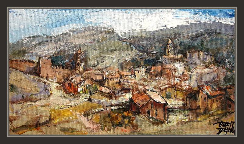 ALBARRACIN-PAISAJES-PINTURAS-CUADROS-TERUEL-OLEOS-ARAGON-PINTOR-ERNEST DESCALS-