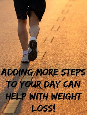 Adding steps to your day can help with weight loss!