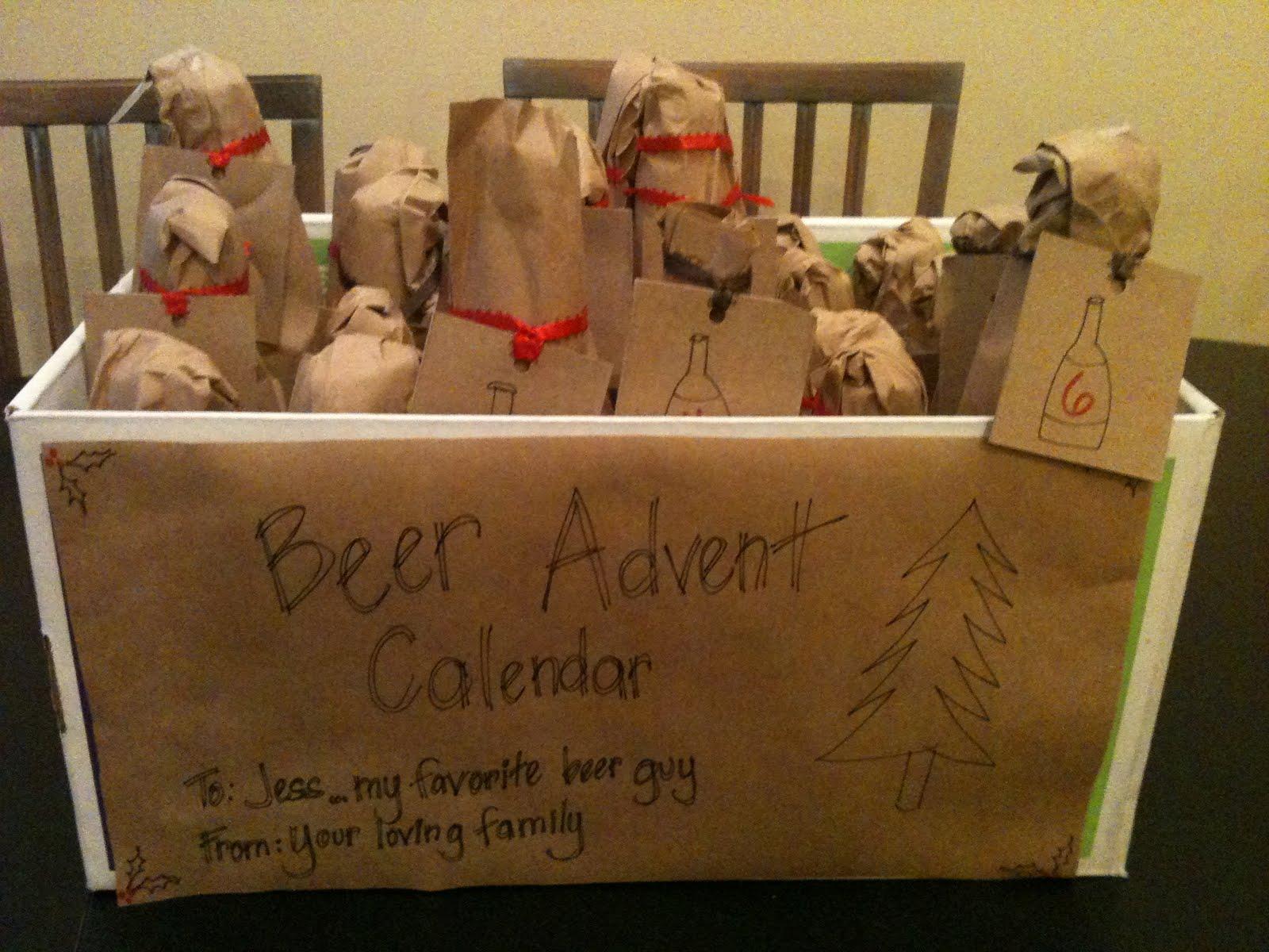 Calendar Ideas For Husband : Rethink crafts beer advent calendar