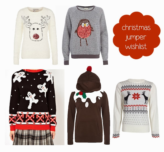 christmas jumper wishlist